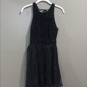 Hollister Black Velvet Lace Dress